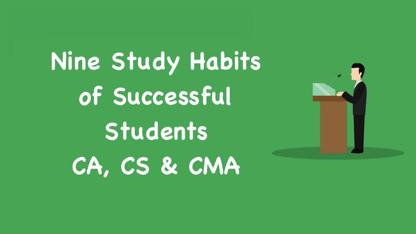 Nine Study Habits of Successful Students