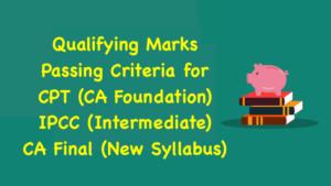 Passing Criteria for CA Foundation