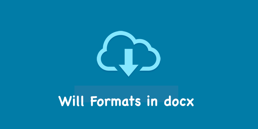 Will Formats in docx
