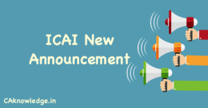 ICAI New Announcement