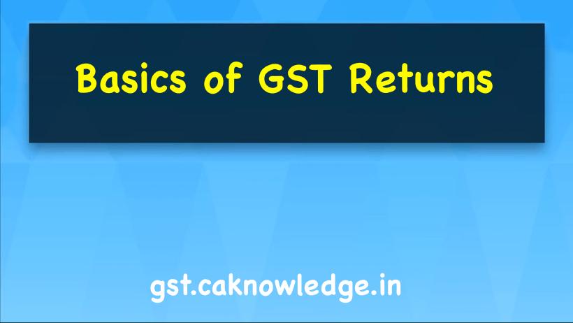 Basics of GST Returns