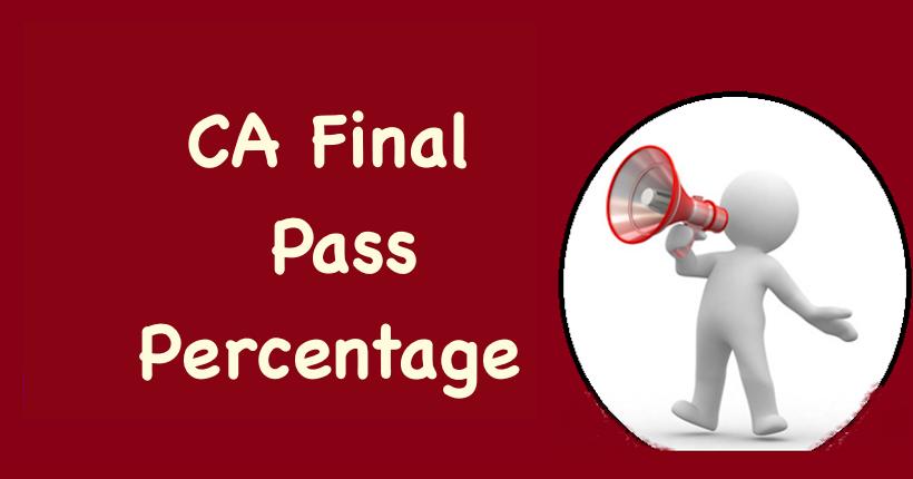 CA Final Pass Percentage