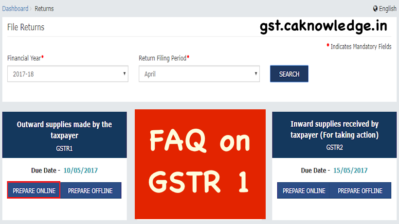 FAQ on GSTR 1