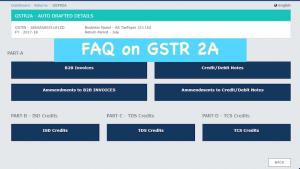 FAQ on GSTR 2A