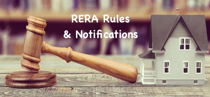 RERA Rules & notifications