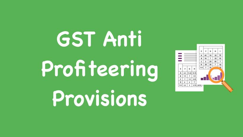 Anti Profiteering Provisions