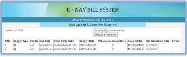 Bulk e-Way Bills 2