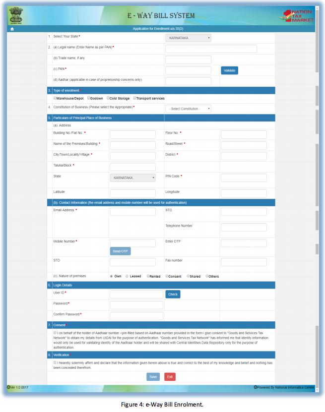 Enroling by GST un-registered transporters