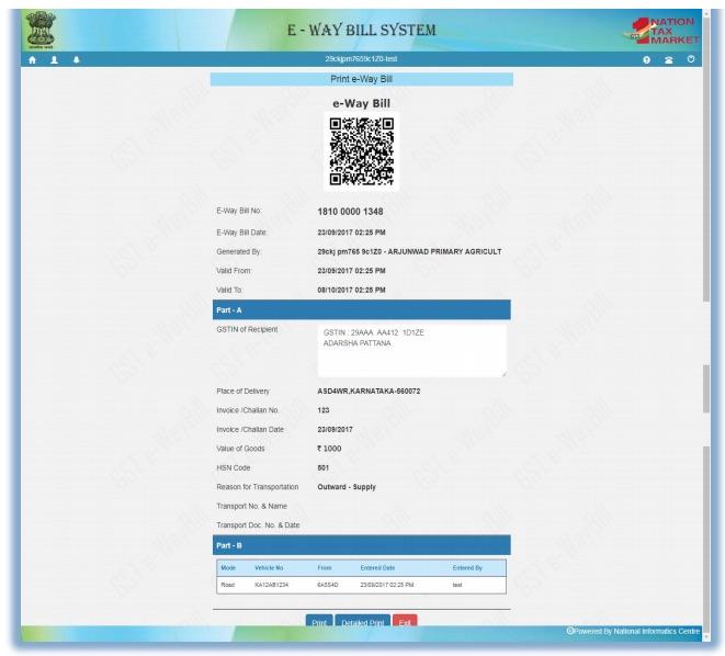 Generate new e-Way bill 2