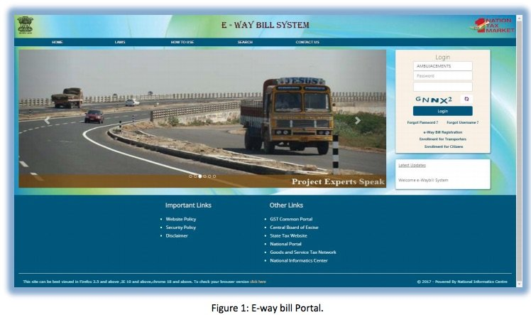 Registering and Enrolling for e-Way Bill Systems