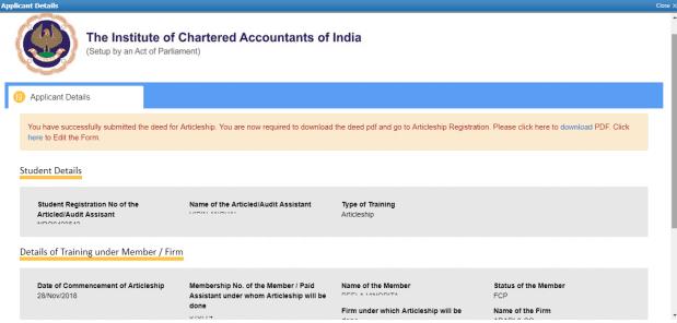 CA Articleship Online Registration