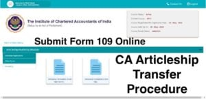 CA Articleship Transfer Procedure 1