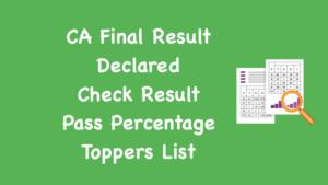 CA Final Result