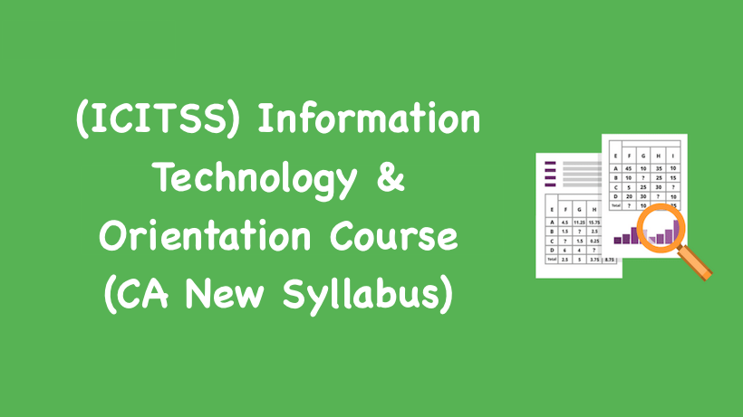 (ICITSS) Information Technology & Orientation Course
