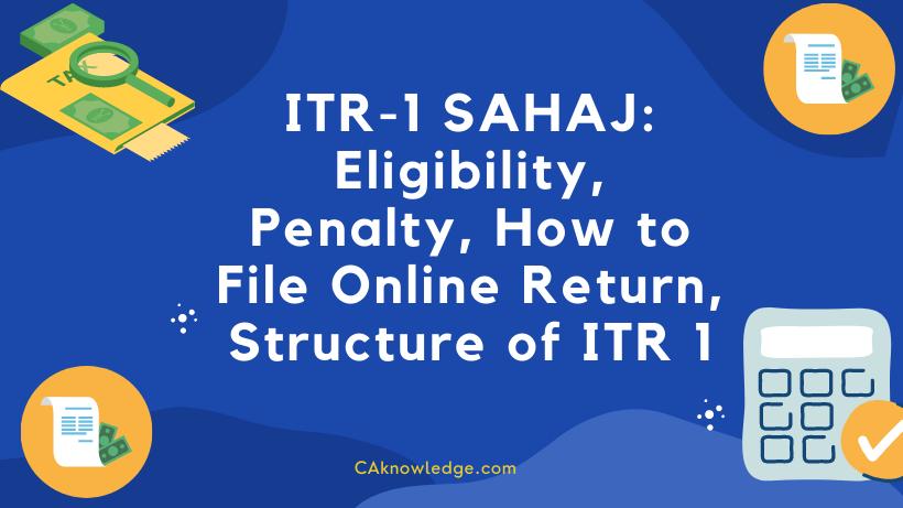 ITR-1 SAHAJ