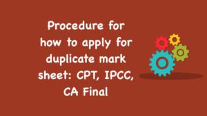 apply for duplicate mark sheet
