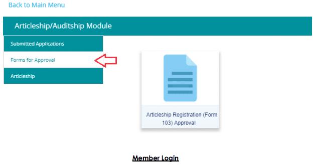 member Login articleship