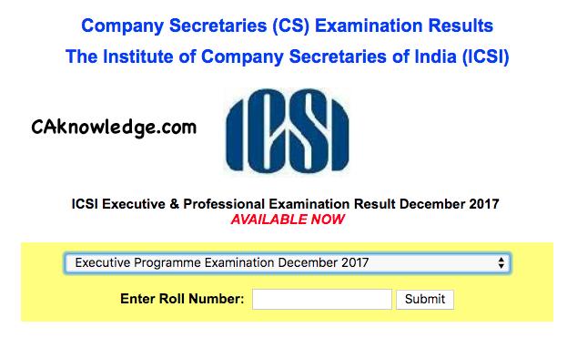 cs executive result