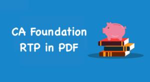 CA Foundation RTP