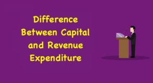 Expenditure and Revenue Expenditure