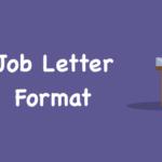 Job Application Letter Format