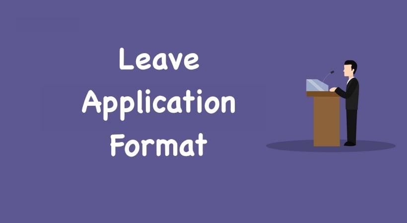 Leave Letter Format