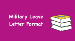 Military Leave Letter Format