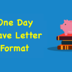 One Day Leave Letter Format