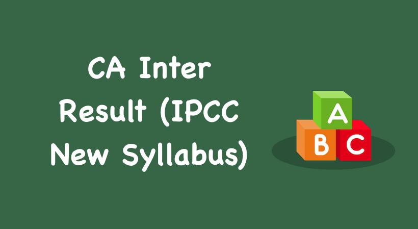 CA Inter Result