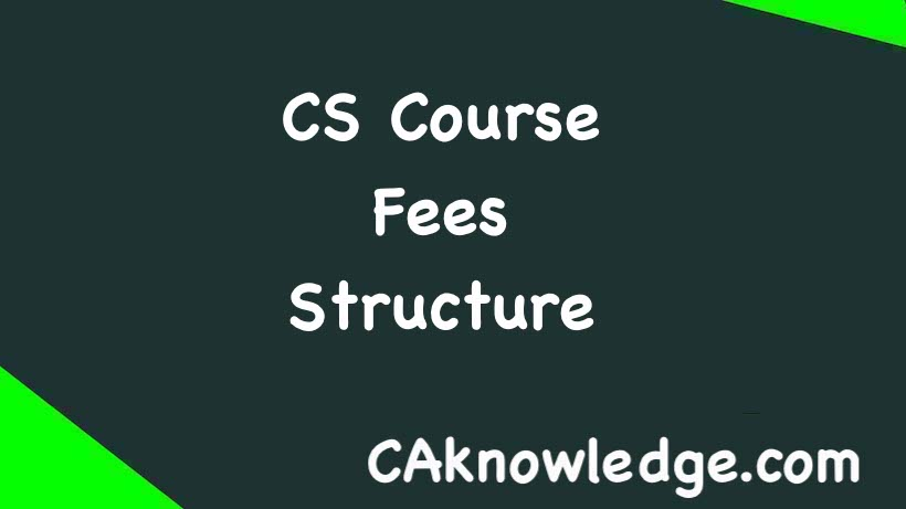 CS Course Fees Structure