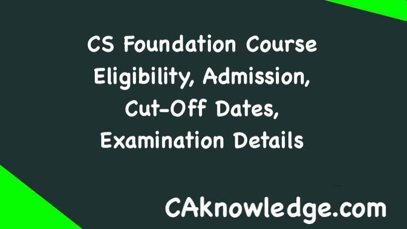 CS Foundation Course