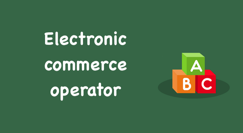 Electronic commerce operator