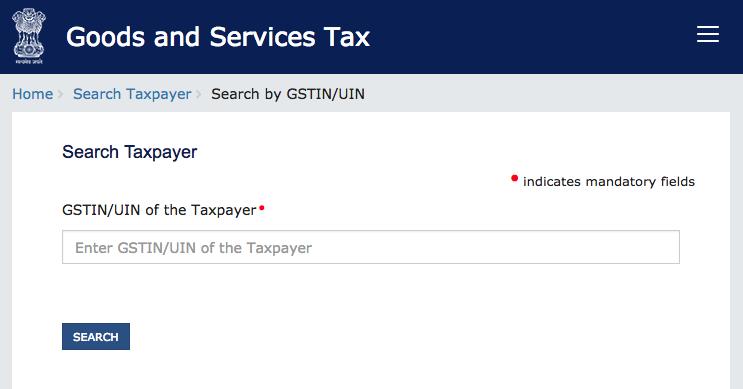 GST Search, GSTIN