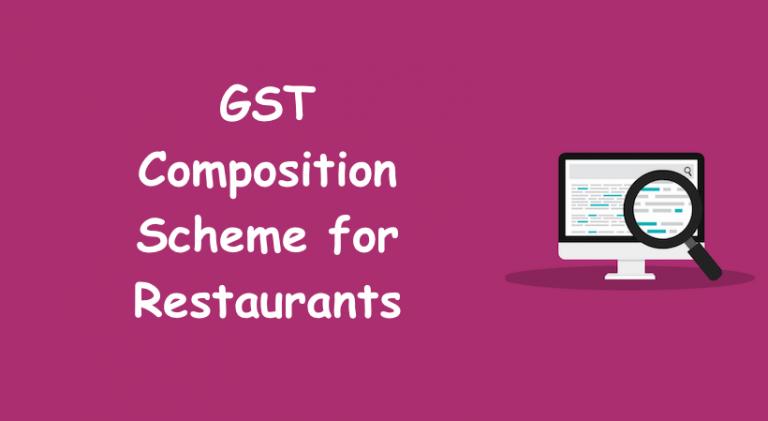 GST Composition Scheme for Restaurants