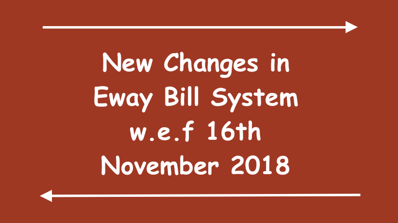 New Changes in Eway Bill System