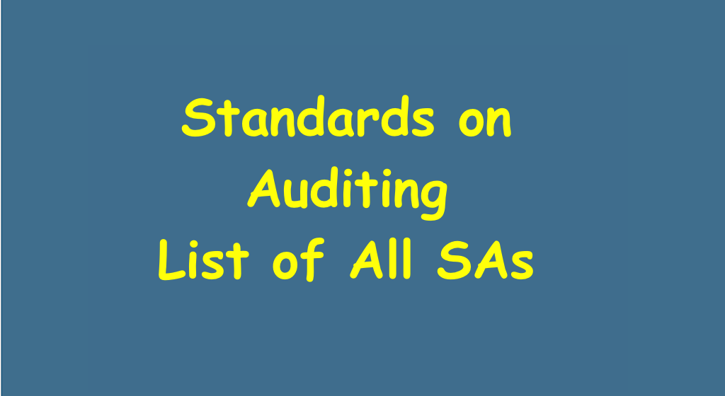 Standards on Auditing