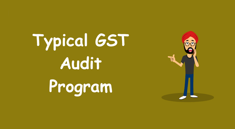 Typical GST Audit Program