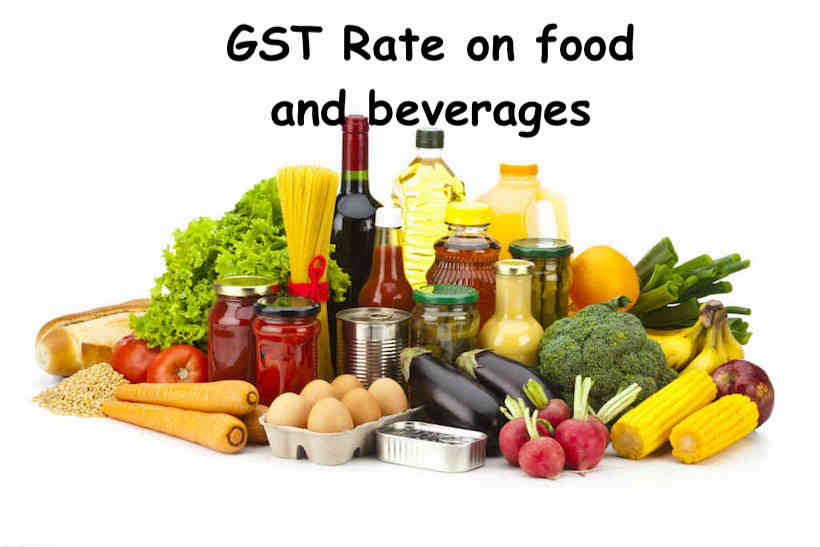 GST Rate on food and beverages