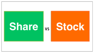Difference between Share and Stock