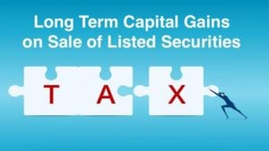 Long Term Capital Gains on Sale of Listed Securities