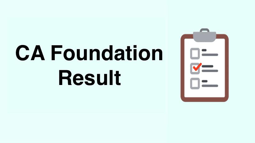 CA Foundation Result