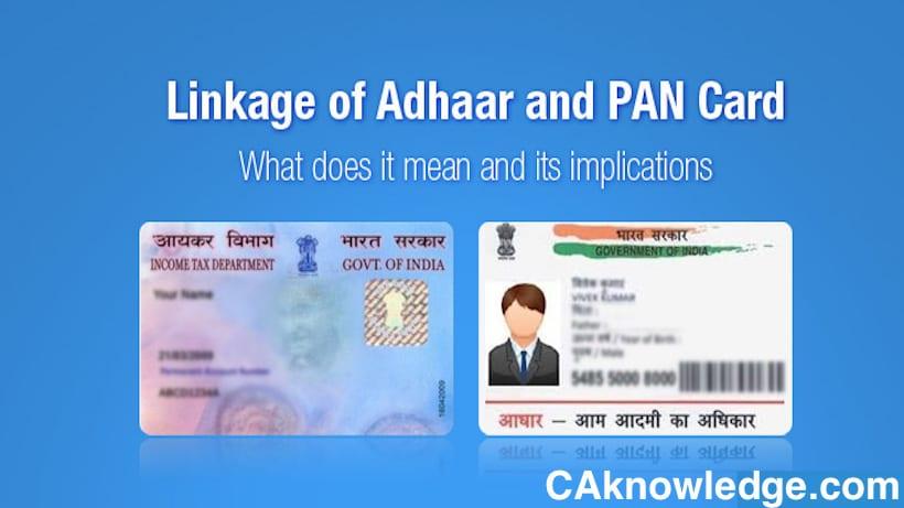 Aadhaar Card and PAN Card Link