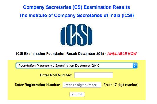 CS Foundation Result Dec 2019