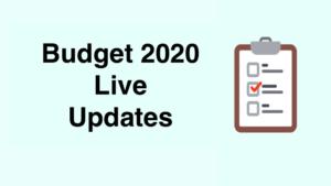 Budget 2020 Live Update