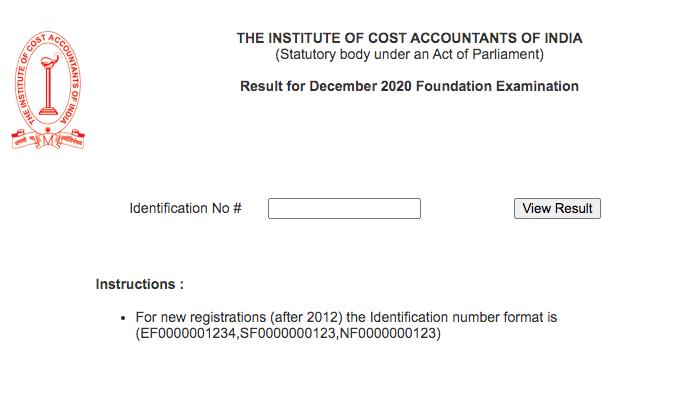 CMA Foundation Result Dec 2020