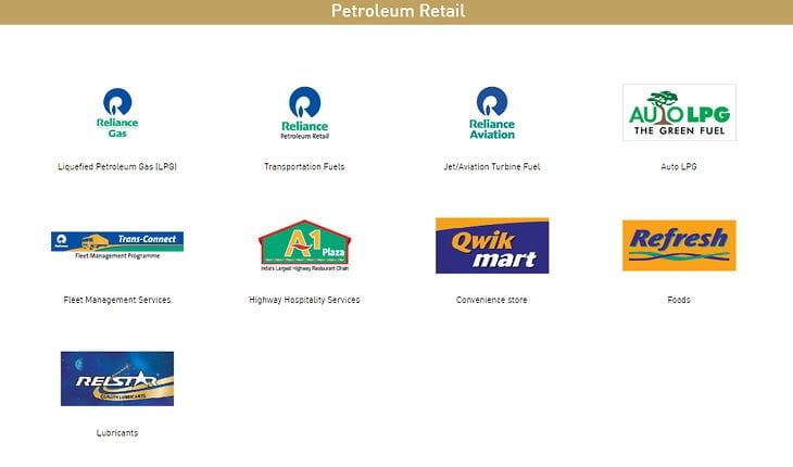 RIL's Petroleum Retail Companies