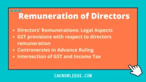Remuneration of Directors