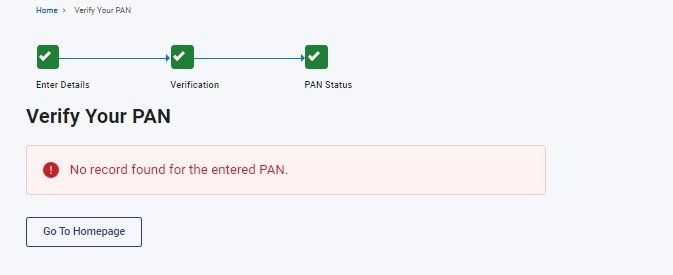 verify pan