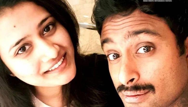 Ambati Rayudu and his wife