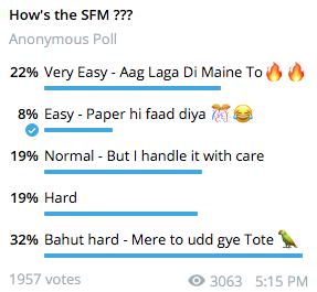 SFM Nov 2020 Poll